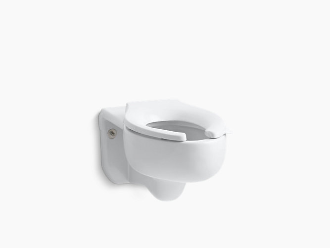 K 4450 C Stratton Wall Mounted 3 5 Gpf Water Guard Flushometer Valve Elongated Blow Out Toilet Bowl With Top Inlet Requires Seat Kohler