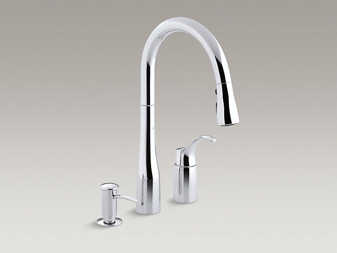 K R648 Simplice Pull Down Kitchen Sink Faucet W Soap Dispenser Kohler