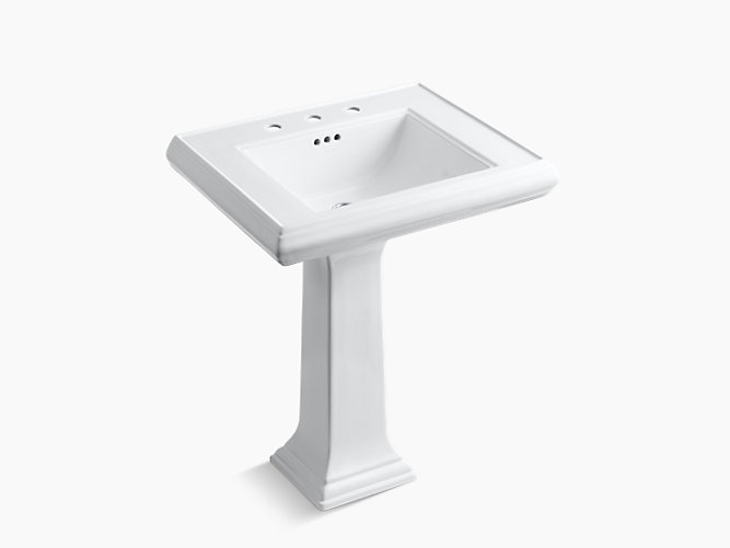 Memoirs Pedestal Sink With Classic Design, 8-Inch Centers