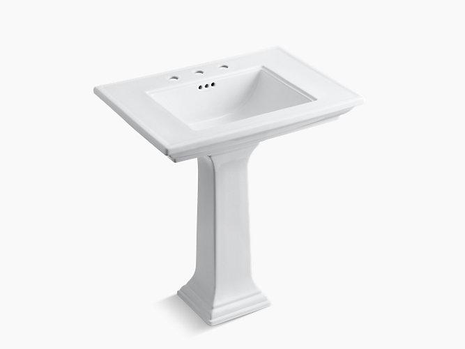 Memoirs Pedestal Sink With Stately Design 8 Inch Centers K 2268 8 Kohler