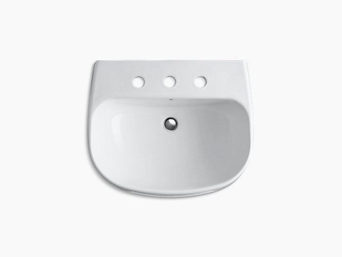 Wellworth Pedestal Sink With 8-Inch Centers
