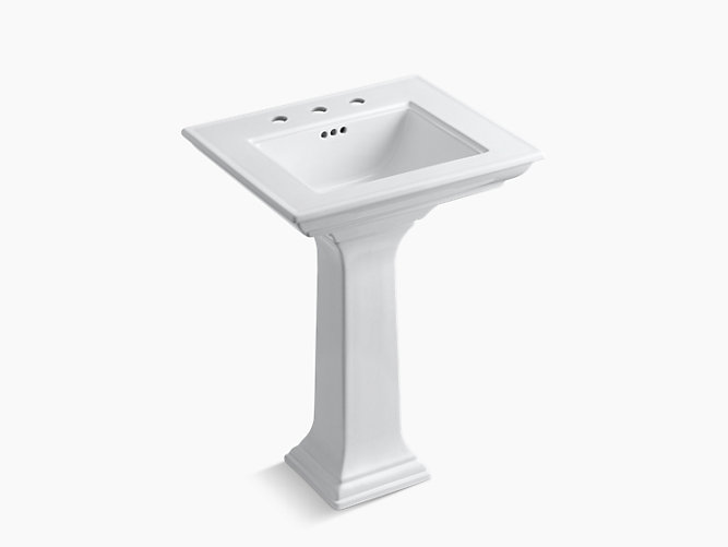 K-2344-8 | Memoirs Pedestal Sink with Stately Design, 8-Inch Centers
