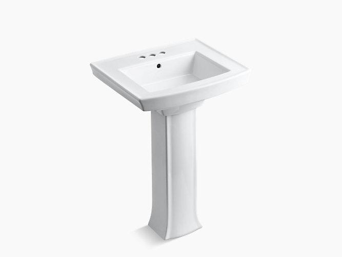 Archer Pedestal Sink With 4-Inch Centers