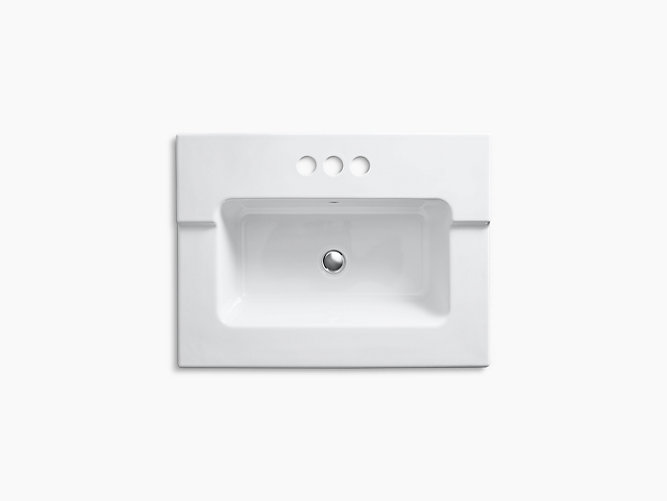 Tresham One-Piece Integrated Sink With 4-Inch