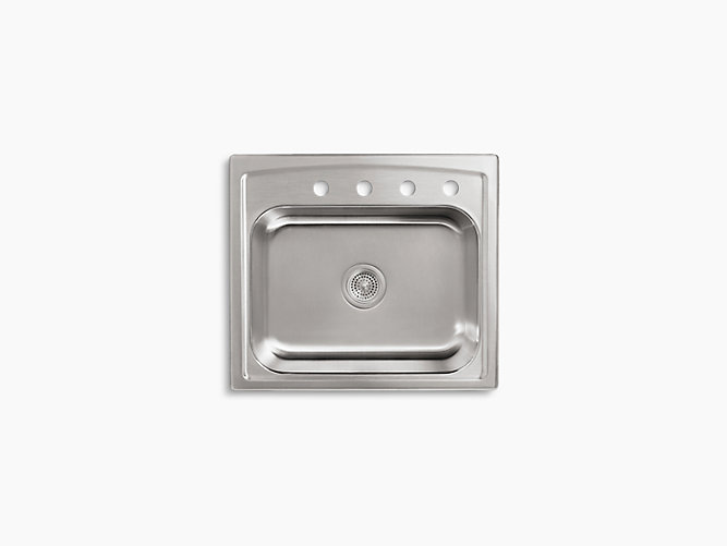 K 3348 4 Toccata Top Mount Kitchen Sink With Four Faucet