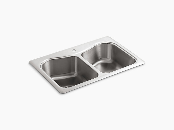 K 3369 1 Staccato 33 Inch Top Mount Sink With Single