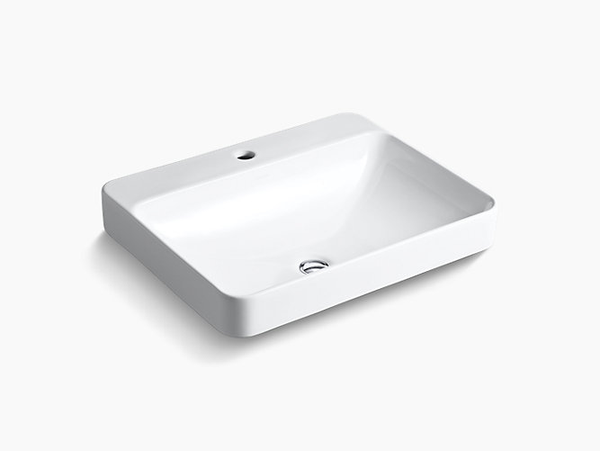 K 2660 1 Vox Rectangle Vessel Sink With Single Faucet Hole Kohler