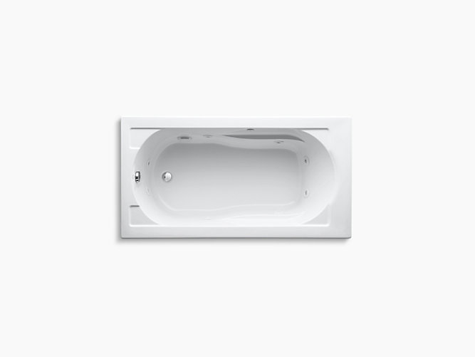 Devonshire 5-Foot Drop-In Whirlpool with Reversible Drain | K-1357 ...