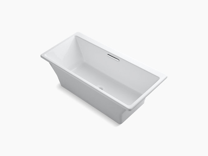 Rêve? freestanding bath with Brilliant Blanc base