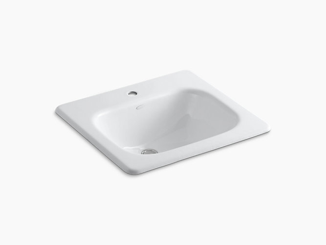 Tahoe Dropin Bathroom Sink With Single Faucet Hole K KOHLER - Black drop in bathroom sink