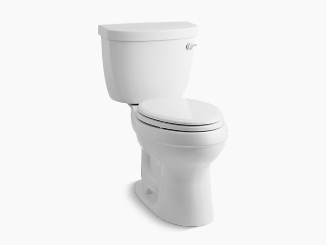 K 3609 Ur Cimarron Comfort Height Two Piece Elongated 1 28 Gpf Toilet With Aquapiston Flush Technology Right Hand Trip Lever And Insuliner Tank Liner Kohler Canada