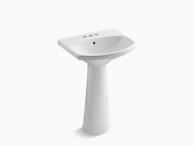 Cimarron Pedestal Sink With 4 Inch Centers K 2362 4 Kohler