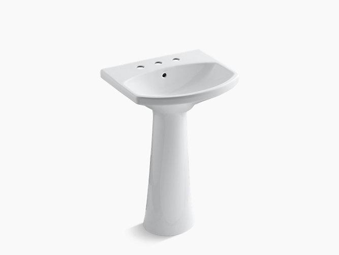 K 2362 8 Cimarron Pedestal Sink With Inch Centers Kohler