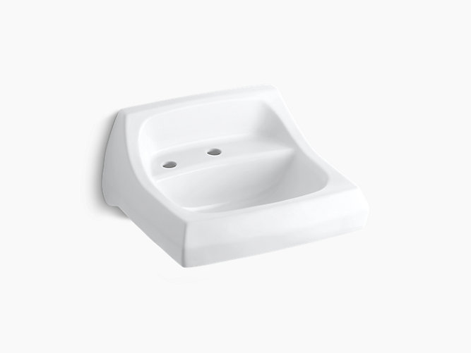 Kingston Wall Mounted Or Concealed Carrier Arm Mounted Commercial Bathroom Sink With Single