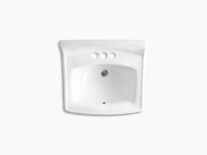 K 2032 Greenwich Wall Mounted Or Concealed Carrier Arm Mounted Commercial Bathroom Sink With 4 Centerset Faucet Holes 20 3 4 X 18 1 4 Kohler
