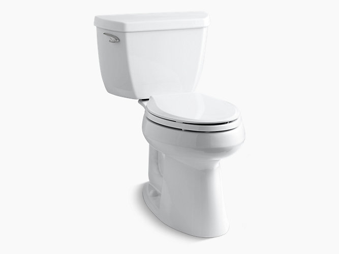 KOHLER|K-3713|Highline Classic Two-Piece Elongated 1.28-GPF Toilet ...