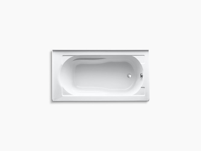 K-1184-RA | Devonshire 5-Foot Bath w/ Apron, Flange, and Right Drain ...