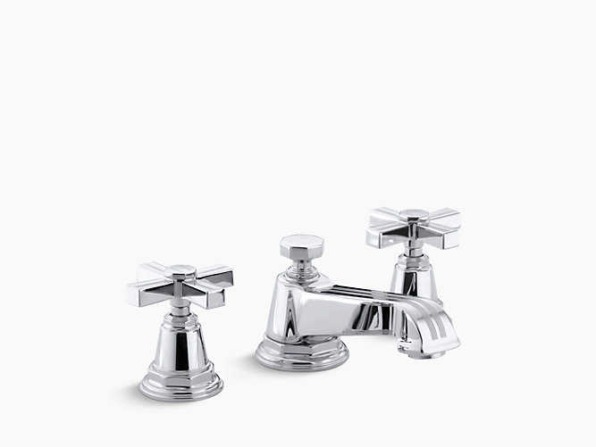 Pinstripe Widespread Sink Faucet with Cross Handles | K-13132-3B ...