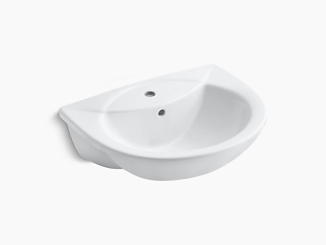 Odeon Drop In Bathroom Sink With Single Faucet Hole