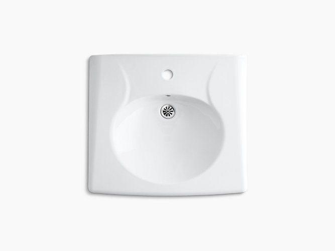 K 1997 1 Brenham Wall Mount Sink With Single Faucet Hole