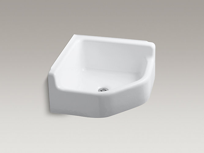 Whitby Floor Mounted Corner Service Sink K 6710 Kohler