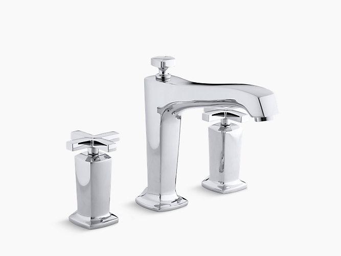Margaux Diverter Bath Faucet Trim with Cross Handles | K-T16236-3 ...