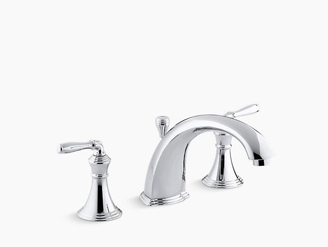 Devonshire® Deck-/rim-mount bath faucet trim for high-flow valve with  8-15/16\