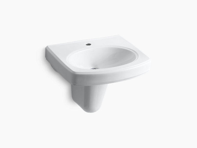 K 2035 1 Pinoir Wall Mount Sink With Single Hole And
