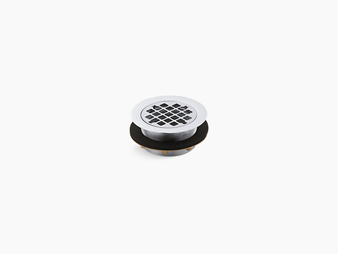 K-9132 | Round shower drain for use with plastic pipe, gasket