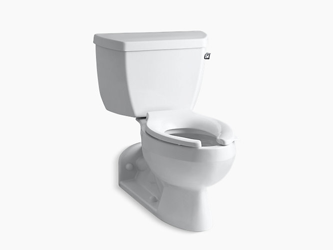 Barrington two-piece elongated 1.4 gpm toilet with Pressure Lite ...