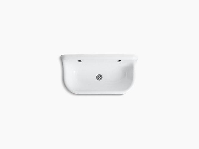 brockway 3 wall mounted wash sink with 2 faucet holes k 3200 kohler - Wash Sink