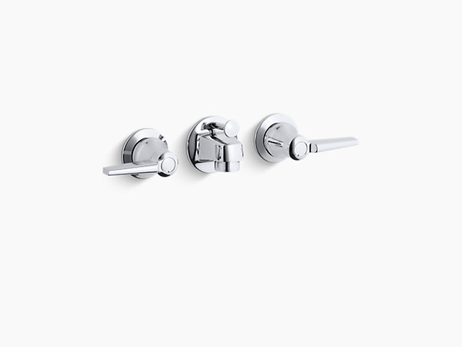 K 8040 4a Triton Shelf Back Commercial Bathroom Sink Faucet With Pop Up Drain And Lever Handles Kohler