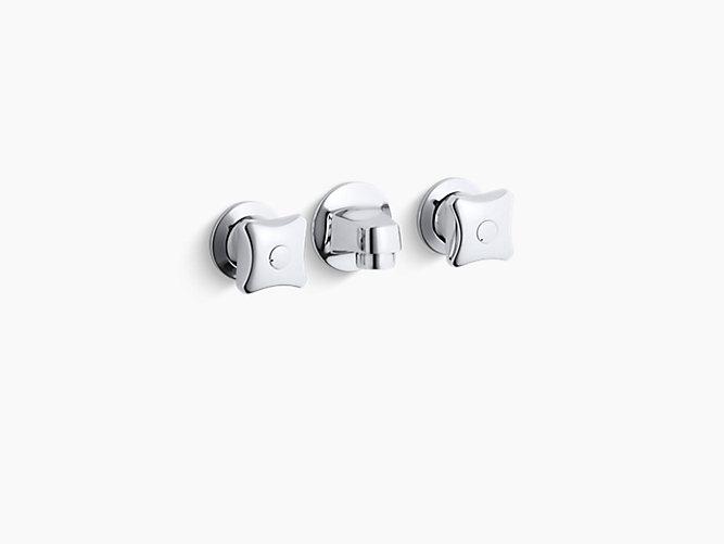 K 8046 2a Triton Shelf Back Commercial Bathroom Sink Faucet With Grid Drain And Standard Handles Kohler
