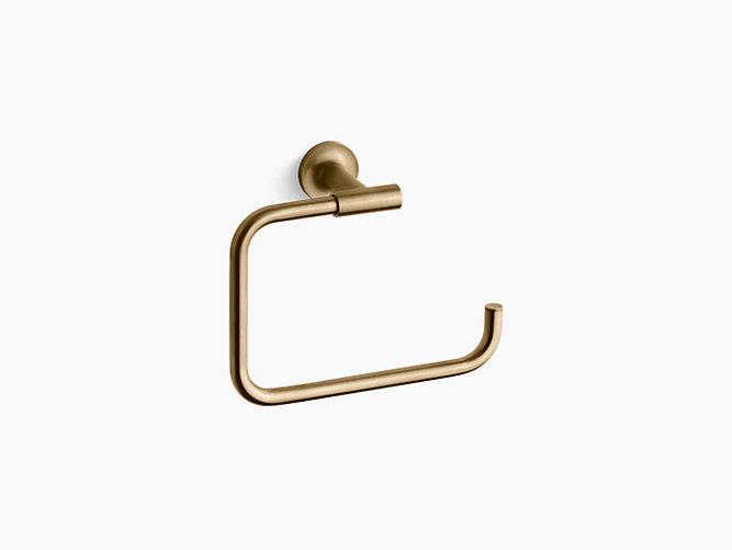 Kohler Purist Towel Ring - Brushed Gold