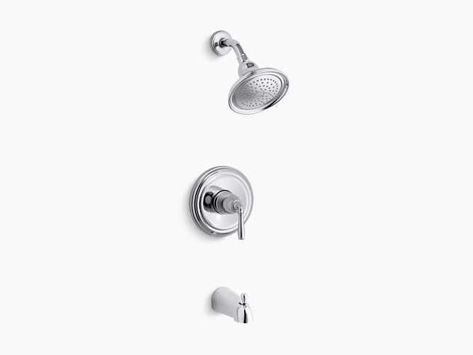 K-TS395-4S | Devonshire® Rite-Temp® bath and shower valve trim with ...