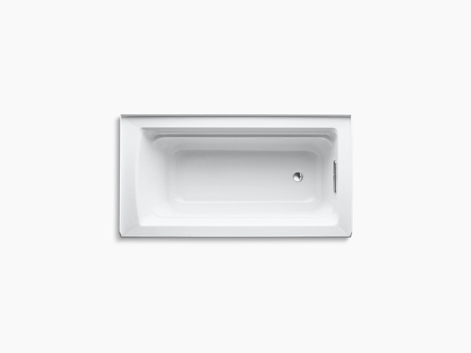 K-1123-RA | Archer 5-Foot Bath with Integral Apron and Right Drain ...