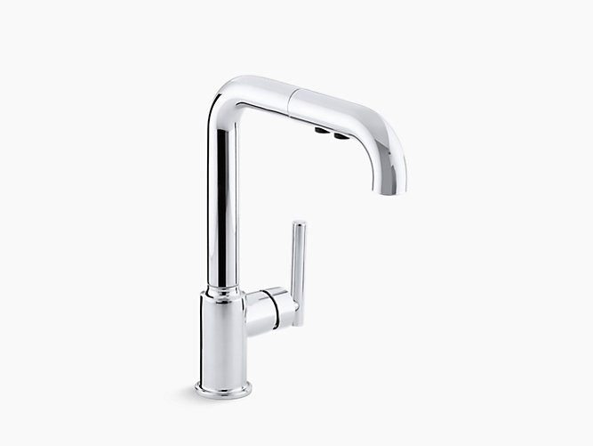 K 7505 Purist Single Handle Pull Out Spray Kitchen Sink