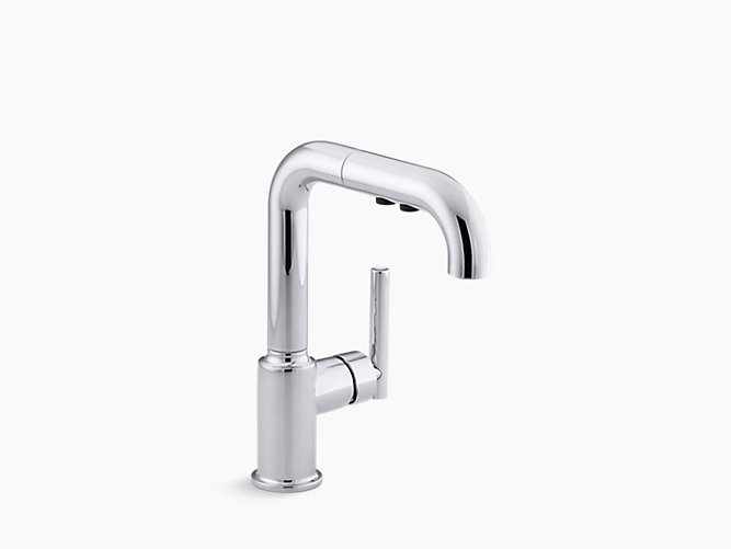 K 7506 Purist Single Handle Pull Out Spray Bar Sink Faucet Kohler Canada
