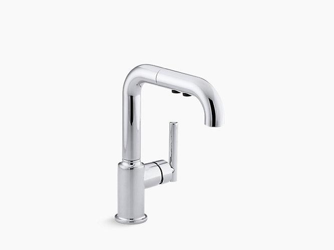 K 7506 Purist Single Handle Pull Out Spray Bar Sink Faucet Kohler