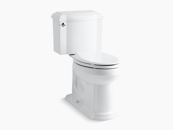 KOHLER|K-3837|Devonshire Two-Piece Elongated 1.28-GPF Toilet | KOHLER