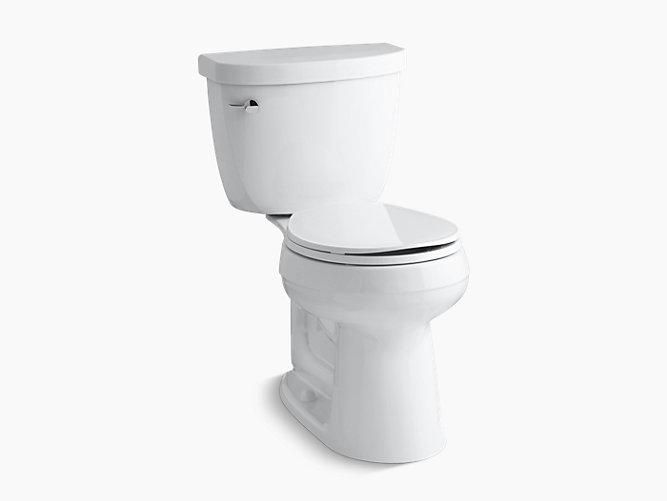 round front toilet dimensions.  Cimarron Comfort Height Round Front 1 28 GPF Toilet K 3887 KOHLER