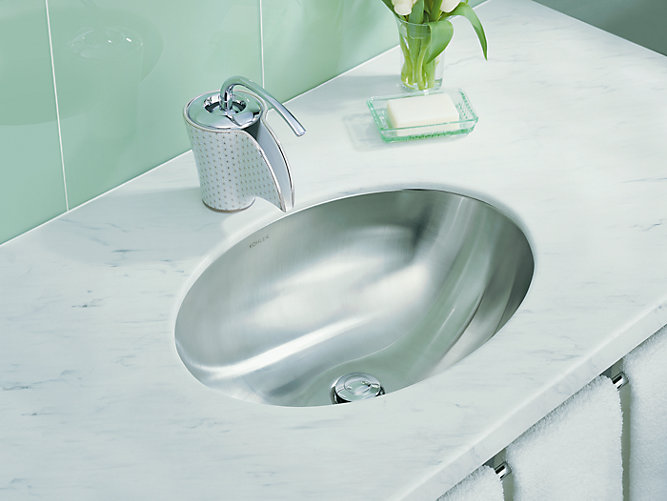 K-2602-SU | Rhythm Undermount Sink with Satin Finish | KOHLER