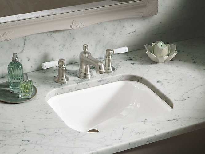 K-2890-8U | Tahoe undermount bathroom sink with oversize 8 ... on bath sink faucets, undermount bath sinks, bathroom vanity faucets, undermount vanity sinks, toilets with faucets, pedestal sinks with faucets, white kitchen sink faucets, granite countertops with faucets,