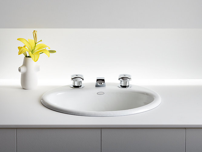 100 kohler overmount bathroom sinks kohler archer drop in v