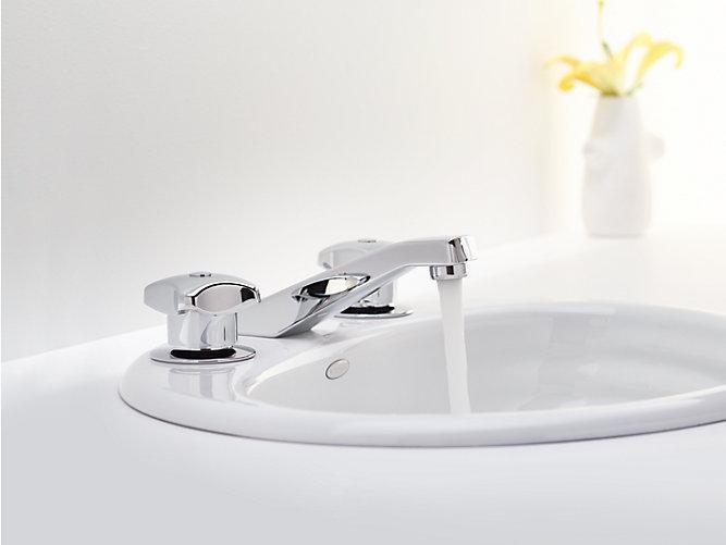 Triton Widespread Commercial Bathroom Sink Faucet, Drain