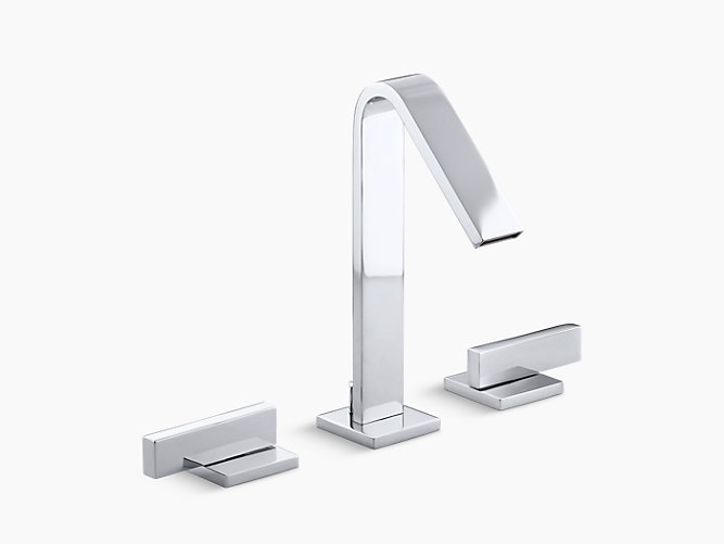 Loure widespread bathroom sink faucet k 14661 4 kohler - Kohler two tone bathroom faucets ...