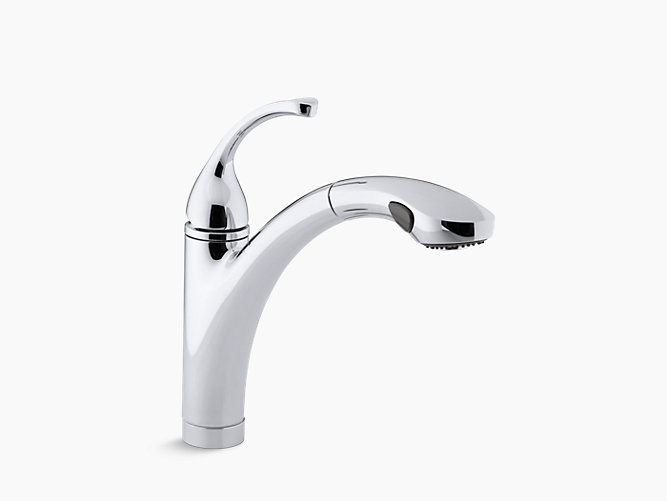 K-10433 | Forté Single-Handle Pull-out Spray Kitchen Sink Faucet ...