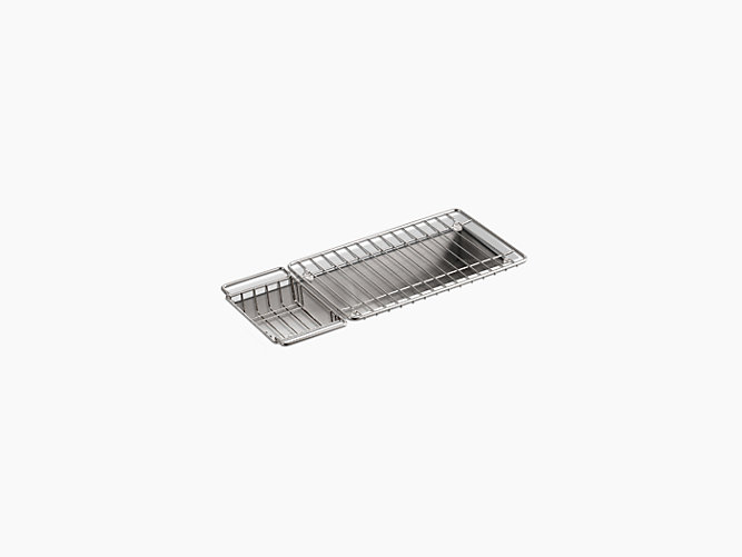 Undertone 22 X 8 1 4 5 Undermount Single Bowl Trough Kitchen Sink Includes Wire Basket And Rack