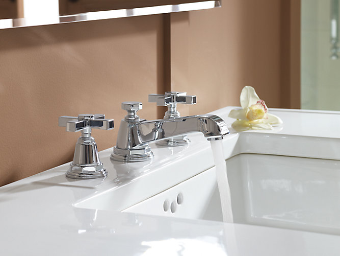 Pinstripe Widespread Sink Faucet with Pure Design | K-13132-3A | KOHLER