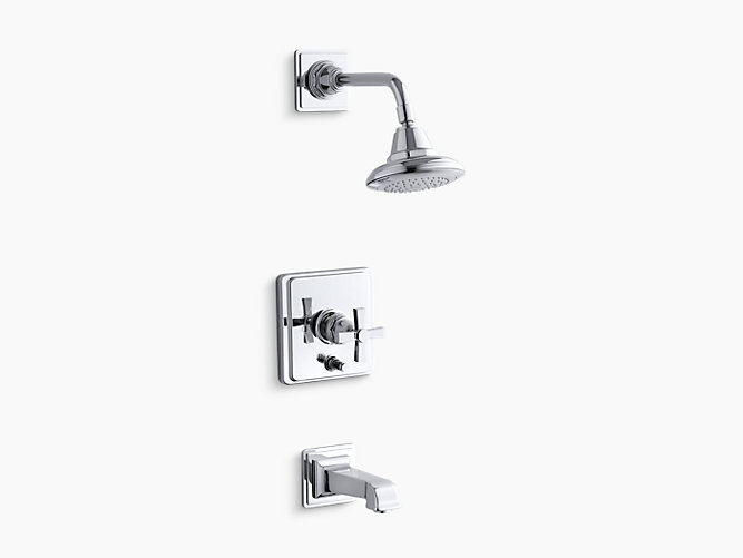 K-T13133-3A | Pinstripe Bath and Shower Faucet Trim with Pure Design ...